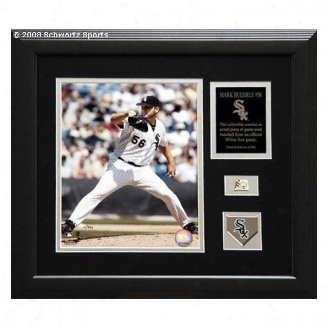 Mark Buehrle Chicago Of a ~ color Sox - Framed 8x10 Photograph Piece With Ball & Medallion