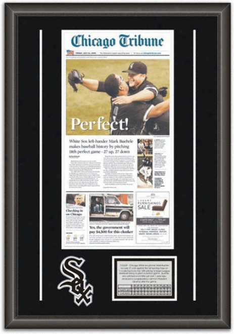 Mark Buehrle Chicago White Sox -perfect Game- Framed Newspaper