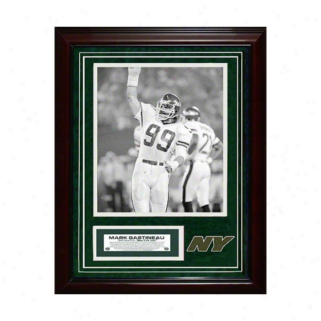 Mark Gastineau New York Jetz 11x14 Feamed Collage With Game Used Turf Photo & Nameplate