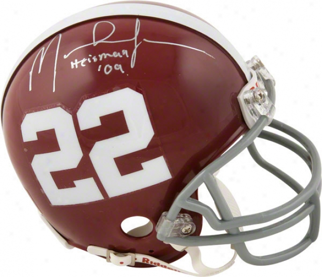 Mark Ingram Autographed Mini Helmet  Details: Alabama Crimson Tide, With &qyotheisman 09&quot Inscription