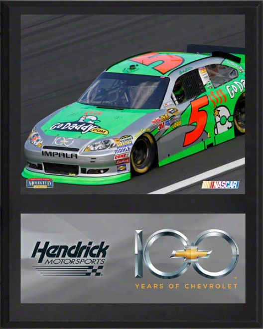 Mark Martin Sublimated 12x15 Plaque  Deatils: Chevrolet 100th Anniversary