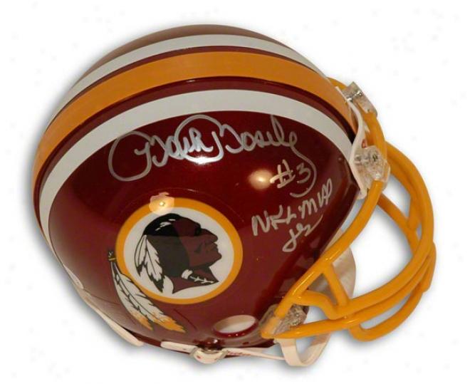 Mark Moseley Autographed Washinhton Redskins Mini Helmet Inscribed &quotnfl Mvp 82&quot