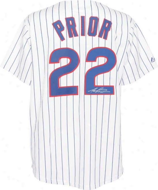 Mark Prior Autographed Jersey  Details: Chicago Cubs, Replica