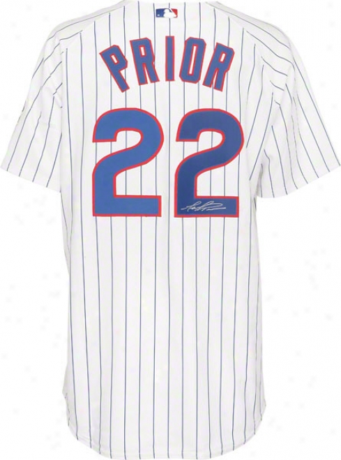 Mark Prior Chicago Cubs Autographed Majestic Athletic Authentic Home Jersey