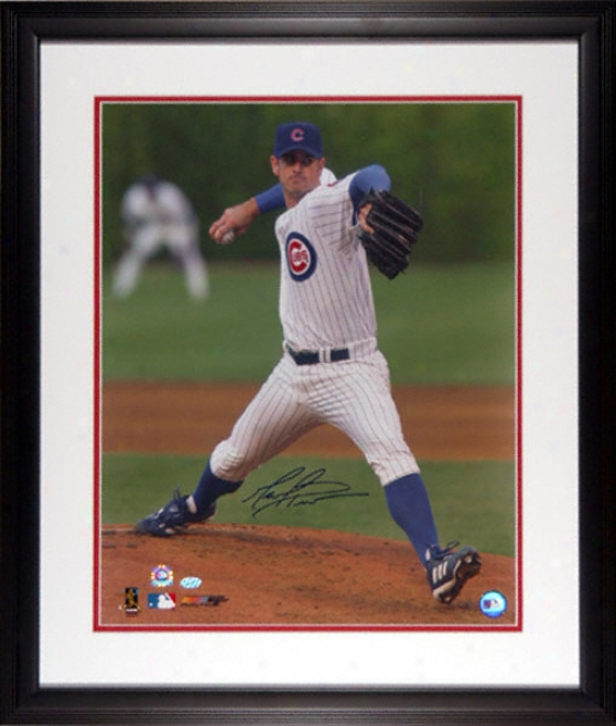 Mark Priof Chicago Cubs Framed 16x20 Autographed Photograph