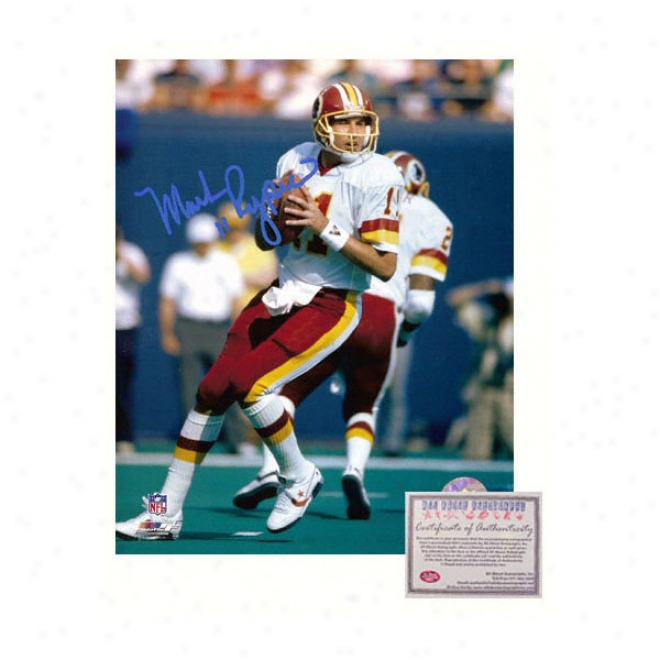 Mark Rypien Washington Redskins - Dropping Bck - Autographed 16x20 Photograph