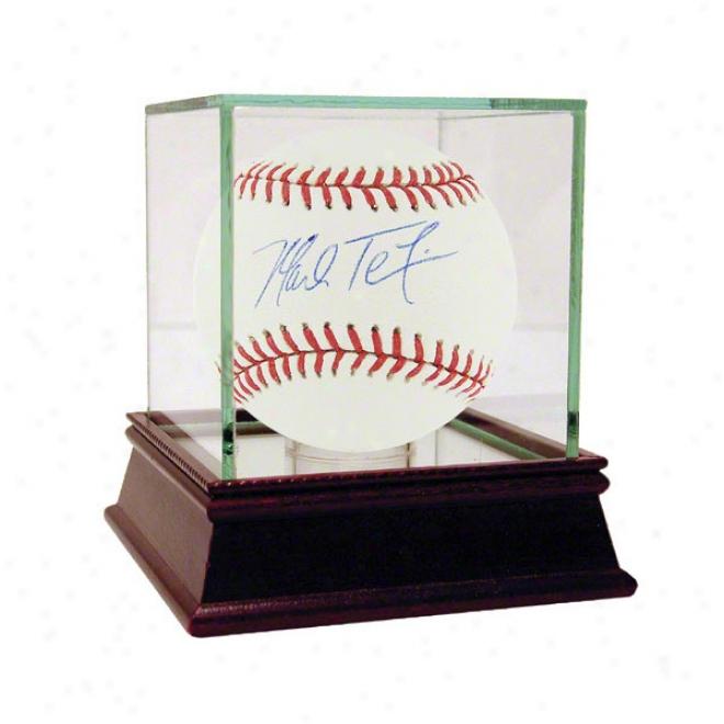 Mak Tejxeira Autographed Baseball