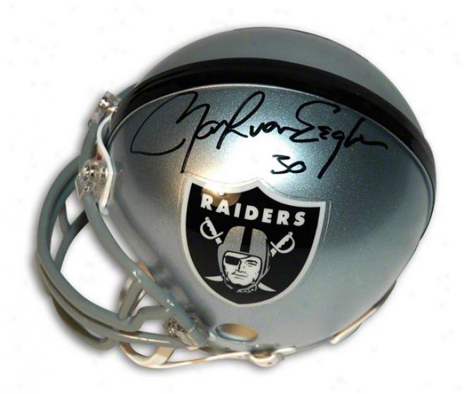 Mark Van Eeghen Autographed Oakland Raiders Mini Helmet