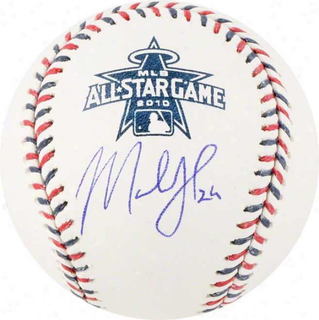 Marlon Byrd Autographed Baseball  Details: 2010 Altogether Star Baseball
