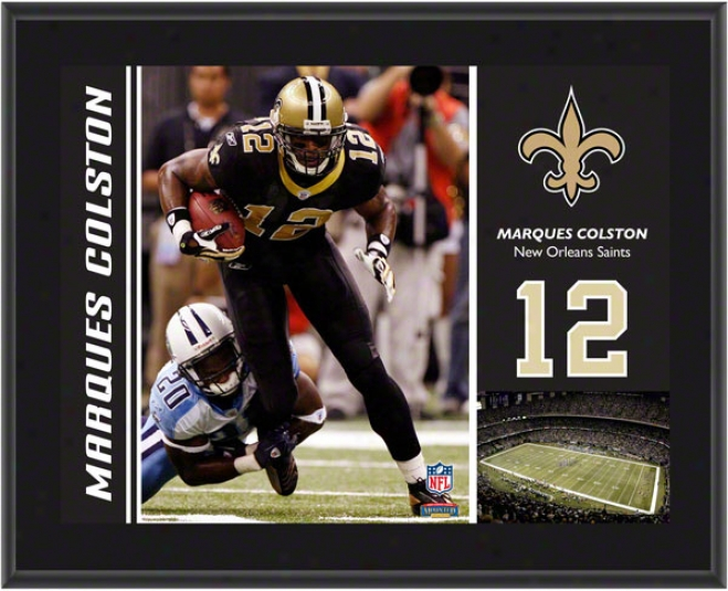 Marques Colston Plaque  Details: New Orleans Saints, Sublimated, 10x13, Nfl Plaque