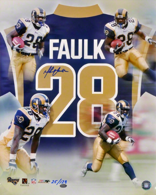 Marshall Faulk St. Louis Rams 16x20 Autographed Photo