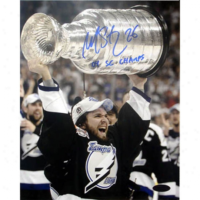 Martin St. Louis Tampa Bay Lightning 8x10 AutographedP hotograph With Inscription