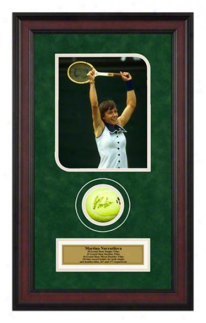 Martina Navratilova Wimbledon Match Framed Autographed Tennis Dance With Photo