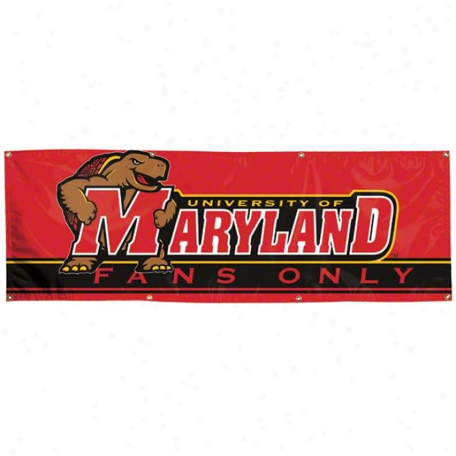 Maryland Terrapins 2x6 Vinyl Banner