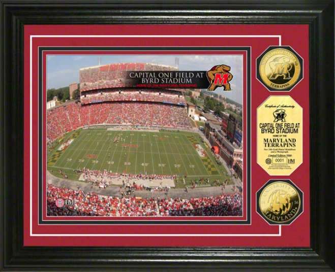 Maryland Terrapins Capital One Field At Byrd Stadium 24kt Gold Coin Puoto Mint