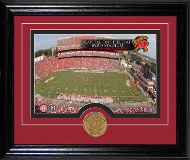 Maryland Terrapins Capital Onee Field At Byrd Stadium Desktop Photograph
