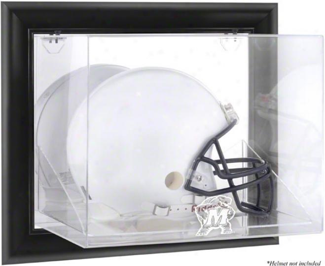 Maryland Terrapins Framed Wall Mounted Logo Helmet Display Case