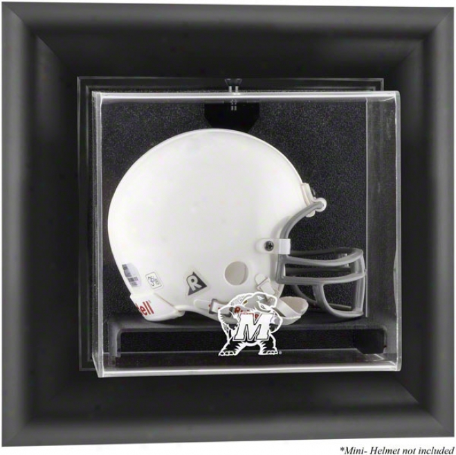 Maryland Terrapins Framed Wall Mounted Logo Mini Helmet Exhibit Case