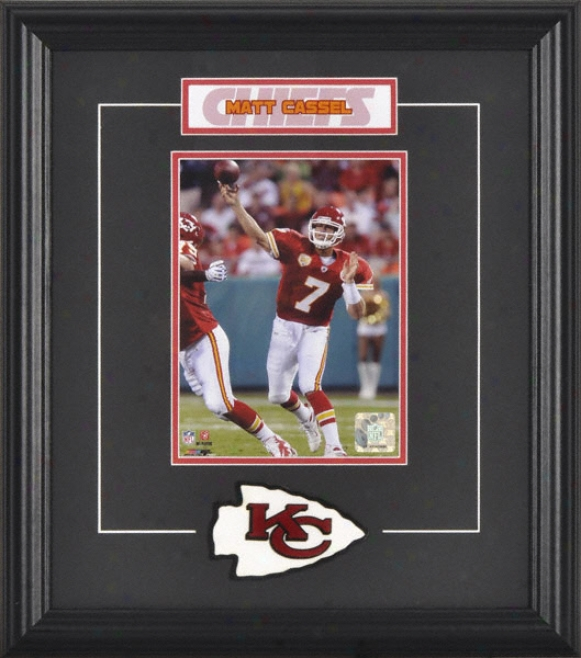 Matt Cassel Framed 6x8 Photoograph With Team Logo & Plate