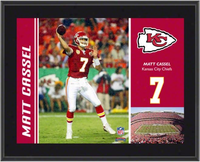 Matt Cassel Plaque  Details: Kansas City Chiefs, Sublimated, 10x13, Nfl Plaque