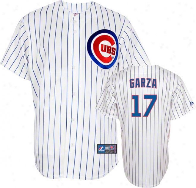Matt Garza Jersey: Adult Internal Pinsripe Replica #17 Chicago Cubs Jersey