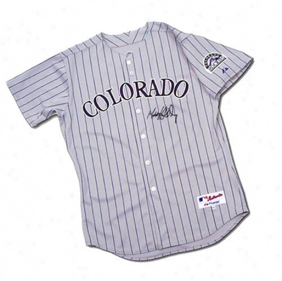 Matt Holliday Autographed Jersey  Details: Colorado Rockies, Majestic, Authentic