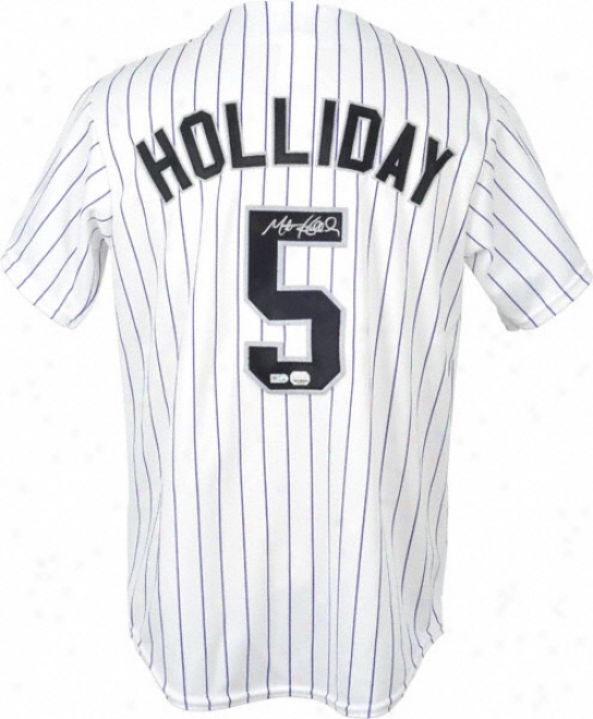 Matt Holliday Autographed Jersey  Details: Colorado Rockies