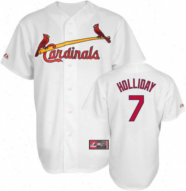 Matt Holliday Jersey: Adult Majestic Home White Replica #7 St. Louis Cardinals Jersey