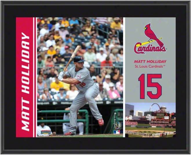 Matt Holliday Plaque  Details: St. Louis Cardinals, Sublimated, 10x13, Mlb Plaque