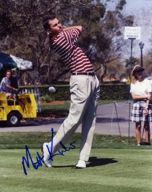 Matt Kuchar - Action2 - 8x10 Autographsd Pgotograph