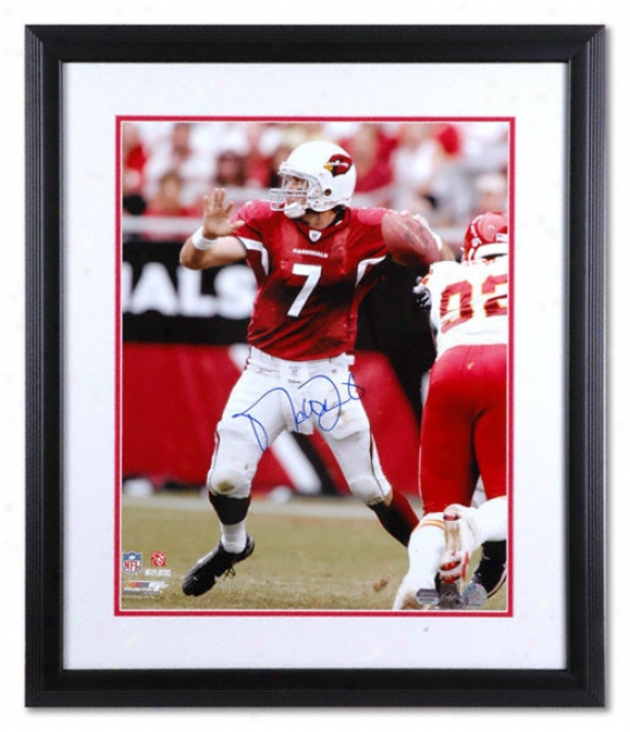 Matt L3inart Arizona Cardinals - Passing - Framed Autographed 16x20 Photograph