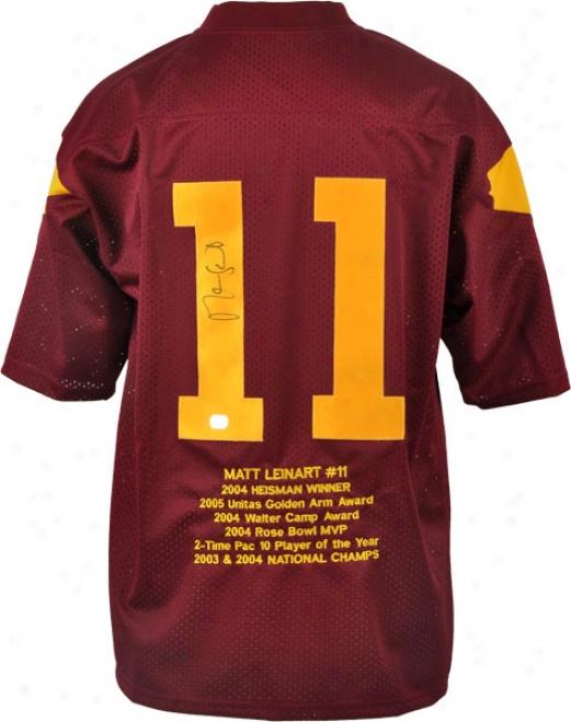 Matt Lwinart Autographed Jdrsey  Details: Embroidered Stat, Custom