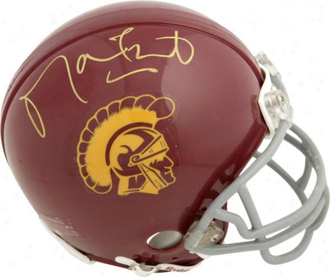 Matt Leinart Usc Trojans Autographed Mini Helmet