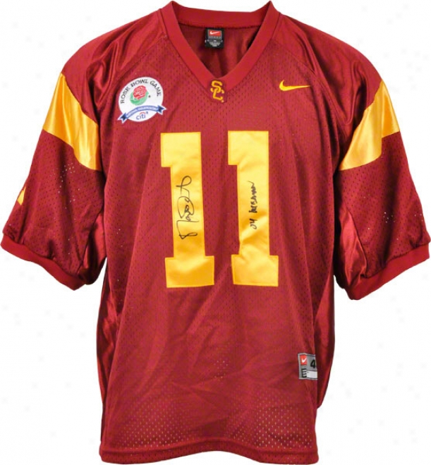 Matt Leinart Usc Trrojans Autographed Nike Jersey With Heisman Inscription