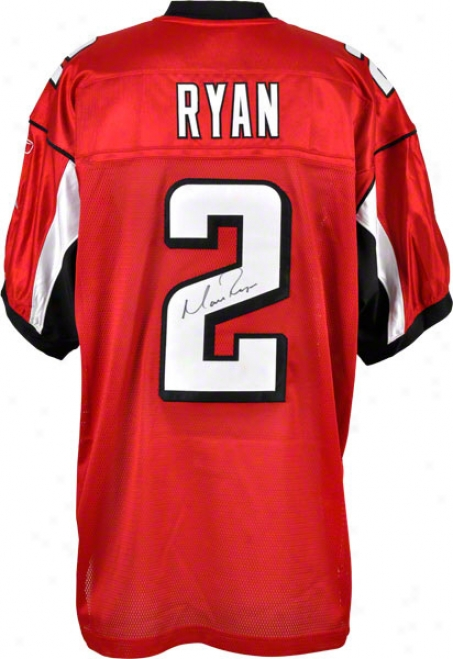 Matt Ryan Autographed Jersey  Details: Reebok Authentic, Atlanta Falcons