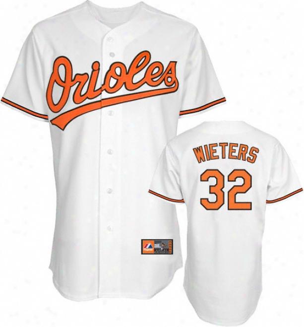 Matt Wieters Jersey: Adult Splendid Home Of a ~ color Replica #32 Baltimore Orioles Jersey