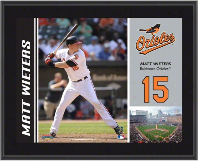 Matt Wieters Plaque  Details: Baltimore Orioles, Sublimated, 10x13, Mlb Plaque