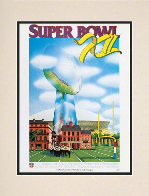 Matted 10.5 X 1 4uper Bowl Xii Program Print  Details: 1978, Cowboys Vs Broncos