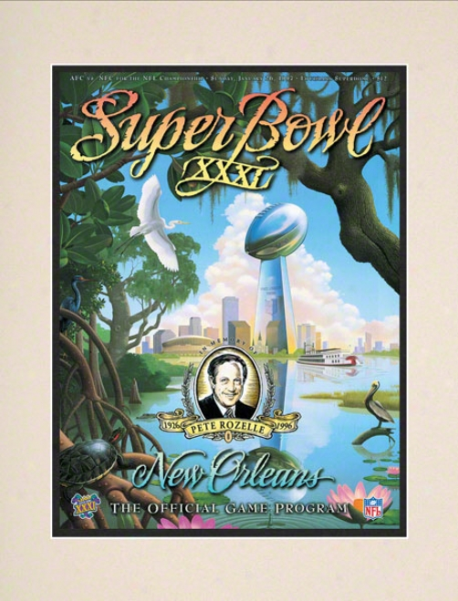 Matted 10.5 X 14 Super Bowl Xxxi Program Print  Details: 1997, Packers Vs Patriots