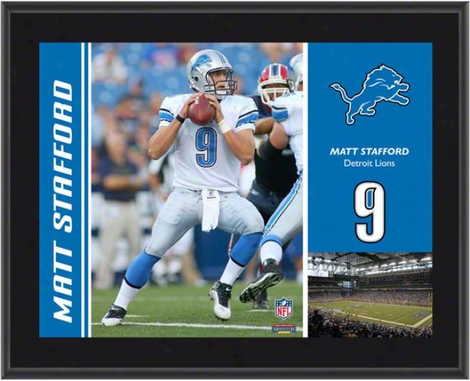 Matthew Stafford Brooch  Details: Detroit Lions, Sublimated, 10x13, Nfl Plaque