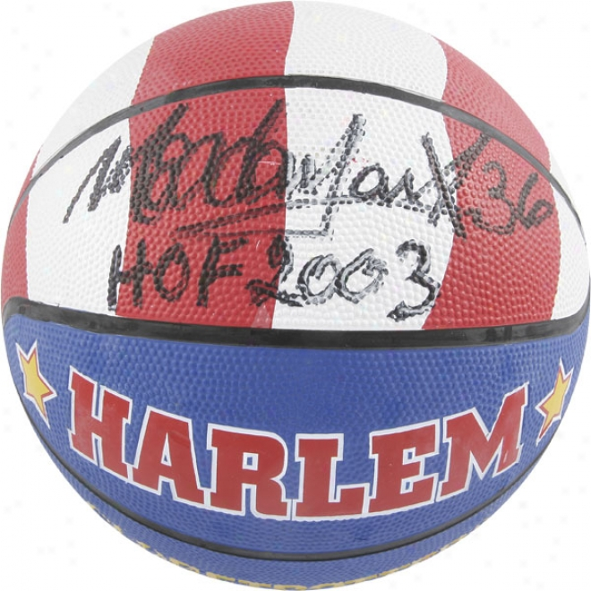 Meadowlark Lemon Autographed Basketball  Details: Globetrotters Basketball, Hof 2003 Inscriptiion
