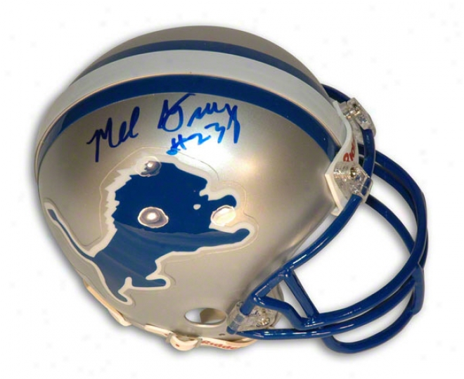 Mel Gray Autograped Detroit Lions Mini Helmet