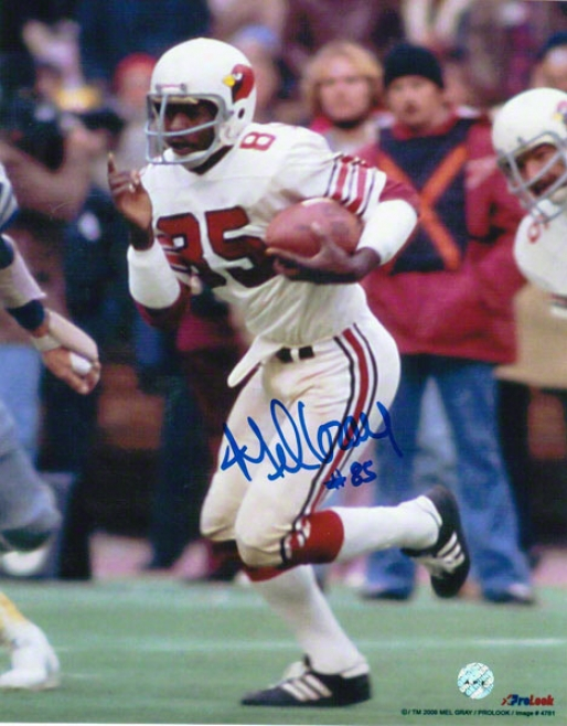 Mel Gray St. Louis Cardinals Autographed 8x10 Photo Running With The Balp