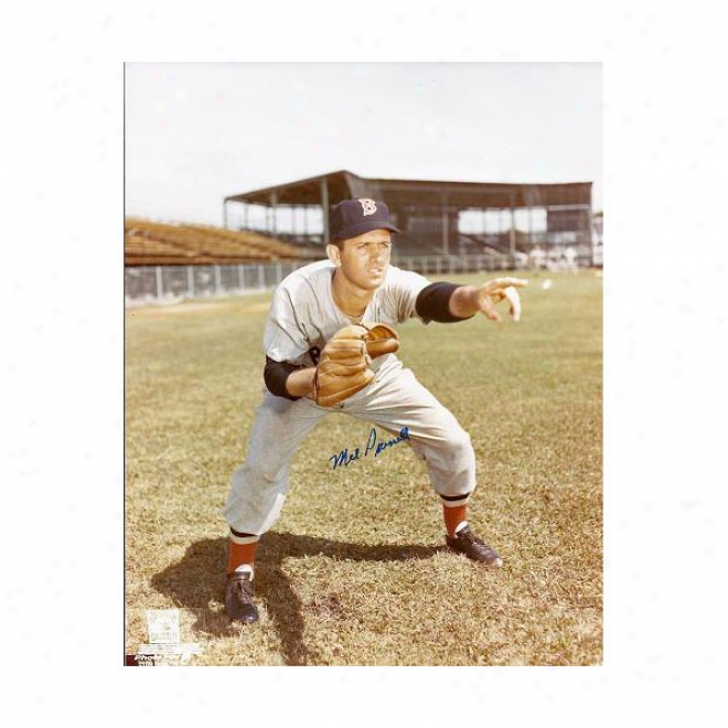 Mel Parnell Autographed Boston Red Sox 8x10 Phogo