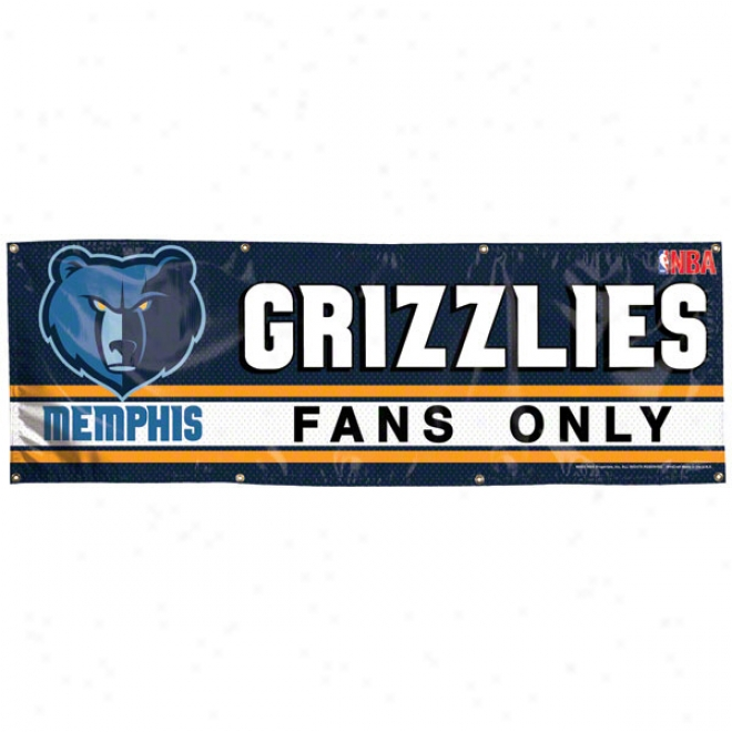 Memphis Grizzlies 2x6 Vinyl Banner