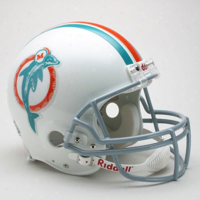 Miami Dolphins 1973-1979 Authentic Pro Line Riddell Throwback Full Size Helmet