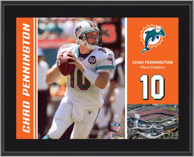Miami Dolphins Chad Pennington Sublimated 10x13 Plaque