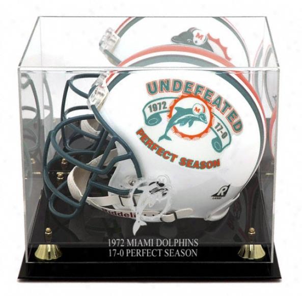 Miami Dolphins Golden Classic 1972 Commemorative Logo Helmet Case And Mirror Back