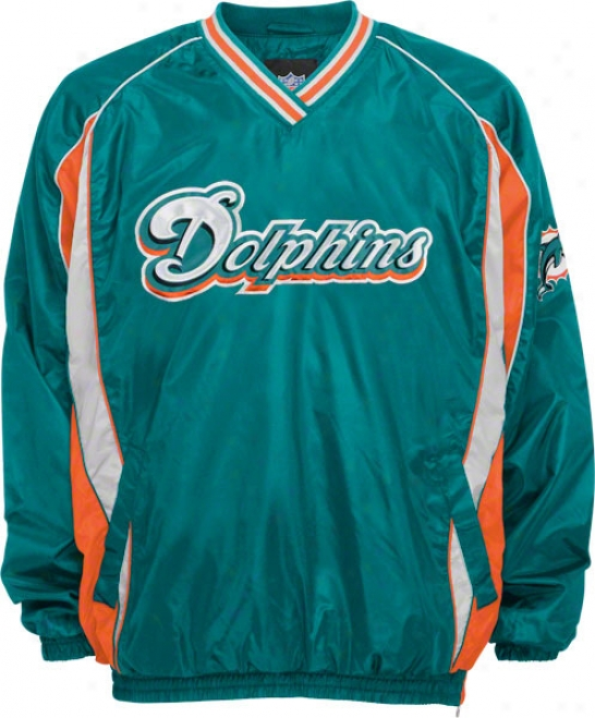 Miami Dolphins Lighhtweigh tV-neck Pullover Jacket