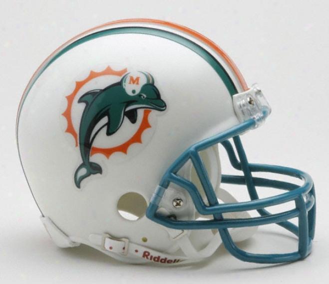 Miami Dolphins Nfl Riddell Mini Helmet